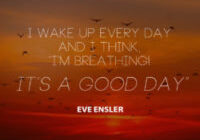 It's A Good Day by Eve Ensler