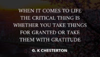 When It Comes To Life by G.K. Chesterton