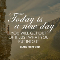 Today is a New Day by Mary Pickford