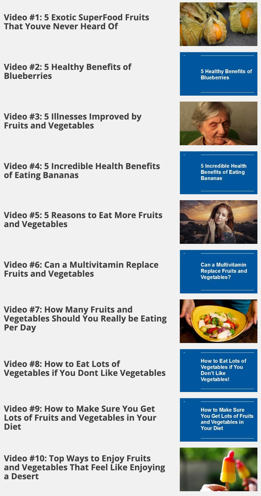 The Miraculous Power of Fruits and Vegetables PRO Video Upgrade